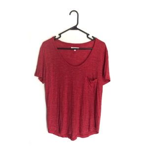 Madewell Red Pocket Tee